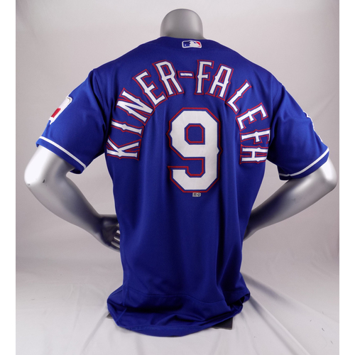 Photo of Final Season Game-Used Blue Jersey - Isiah Kiner-Falefa - 9/6/19, 9/29/19