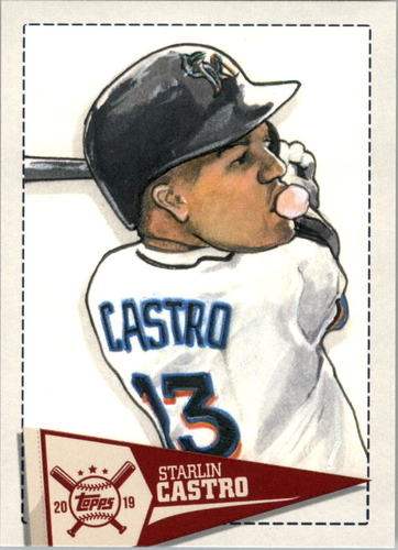 Photo of 2019 Topps Big League Star Caricature Reproductions #SCRSC Starlin Castro