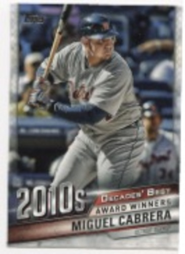 Photo of 2020 Topps Decades' Best #DB91 Miguel Cabrera