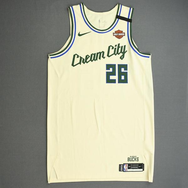Image of Kyle Korver - Milwaukee Bucks - Game-Worn City Edition Jersey - 2019-20 NBA Season Restart with Social Justice Message