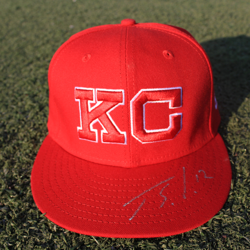 Photo of Autographed/Game-Used Monarchs Cap: Jorge Soler #12 (STL @ KC 9/22/20)