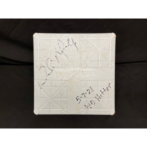 Photo of Wade Miley No-Hitter - *Game-Used, Autographed & Inscribed* Second Base (Innings 1-9) - 05/07/2021 - CIN @ CLE - Inscribed as 5-7-21 No Hitter