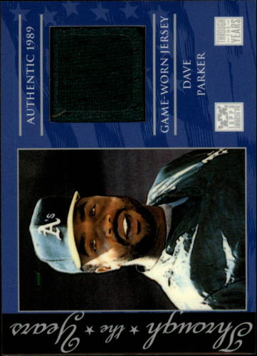 Photo of 2002 Topps American Pie Through the Years Relics #DP Dave Parker Jsy