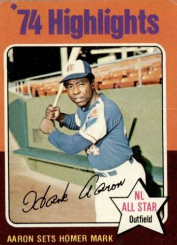 Photo of 1975 Topps #1 Hank Aaron HL/Sets Homer Mark