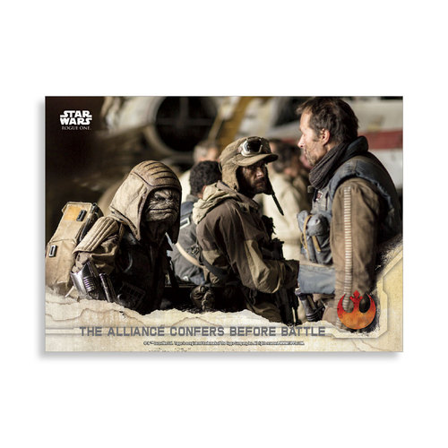 The alliance confers before battle 2016 Star Wars Rogue One Series One Base Poster - # to 99