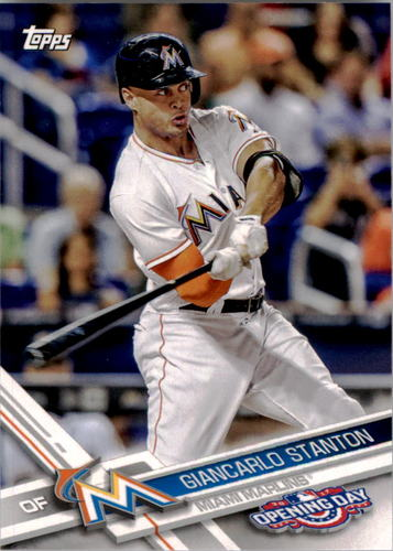 Photo of 2017 Topps Opening Day #110A Giancarlo Stanton