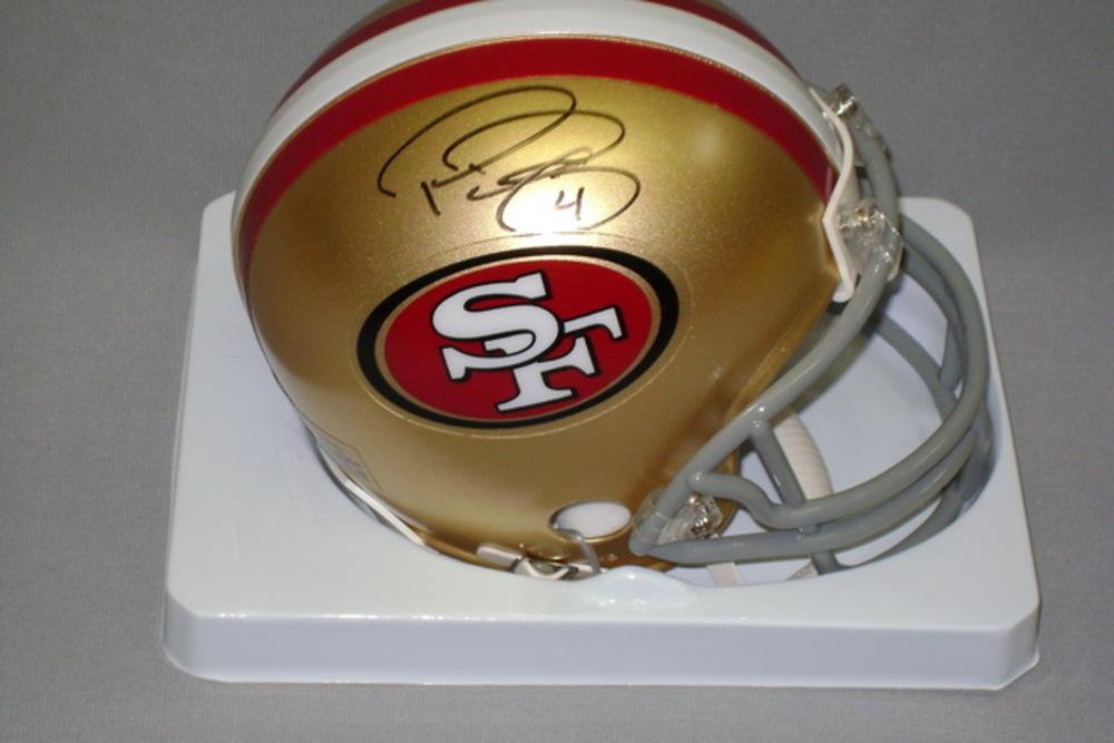 49ERS - PHIL DAWSON SIGNED 49ERS MINI HELMET