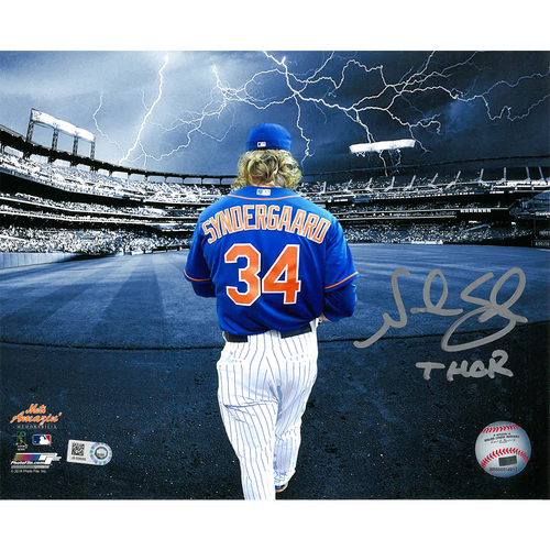 "Photo of Noah Syndergaard - Autographed 16x20 Photo - Inscribed ""THOR"""