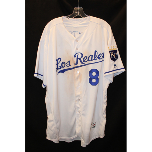 Game-Used Jersey: Mike Moustakas (Size 52 - TOR at KC - 6/24/17)