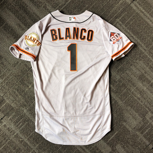 Photo of San Francisco Giants - Mother's Day Game-Used Jersey - #1 Gregor Blanco - 1-1, R (size 44)
