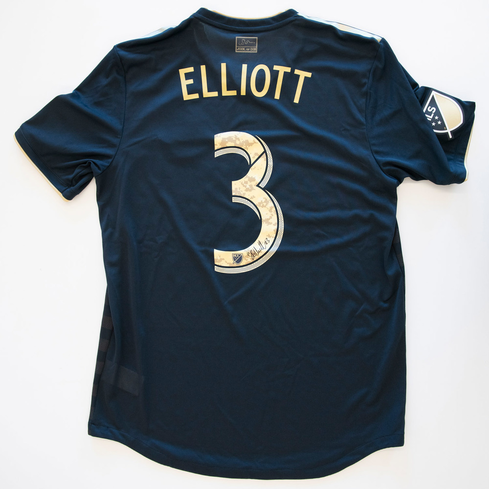 Jack Elliot Philadelphia Union Game Worn, Signed 2018 Military Appreciation Jersey