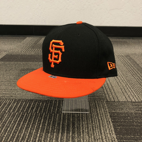 Photo of San Francisco Giants - 2018 Game Used Alternate Orange Bill Cap - worn by #5 Nick Hundley - size 7 3/8