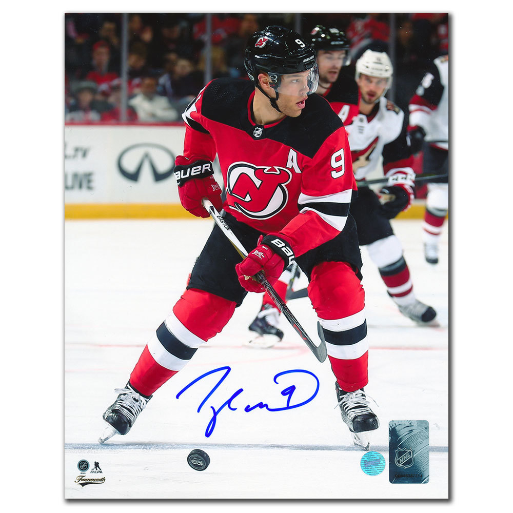 Taylor Hall New Jersey Devils RUSH Autographed 8x10