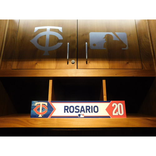 Photo of 2018 Eddie Rosario Game-Used Locker Name Plate