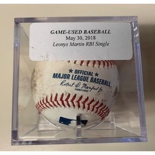 Photo of Game-Used Baseball: Leonys Martin RBI Single