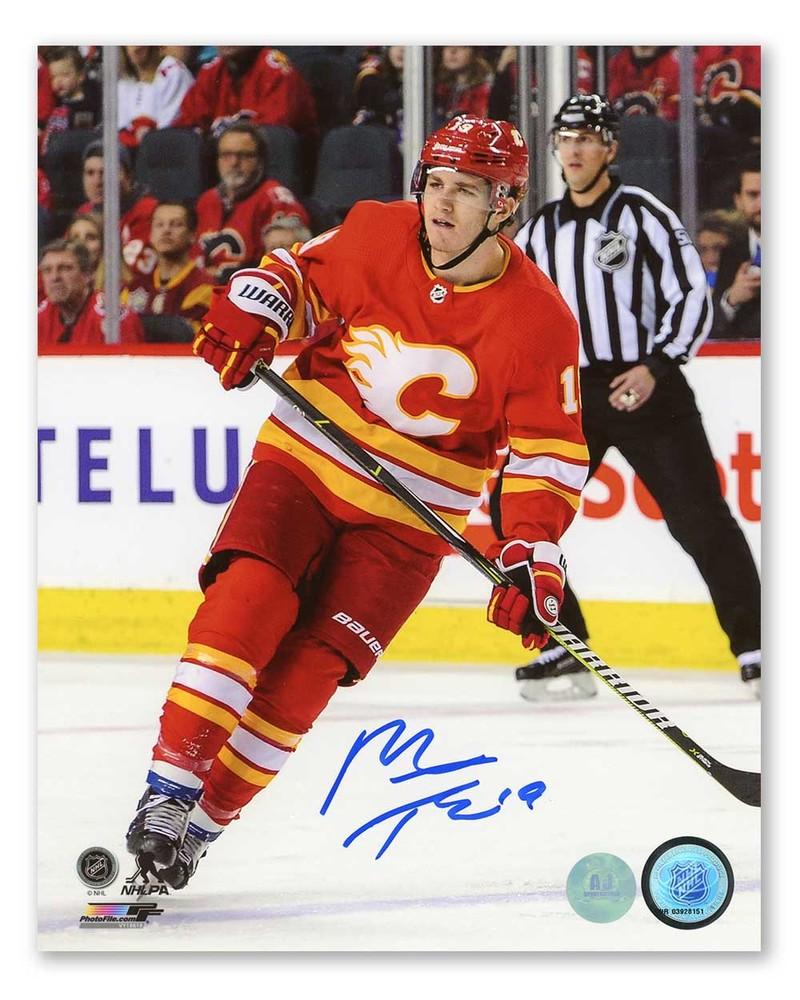 Matthew Tkachuk Calgary Flames Autographed Retro Logo Hockey 8x10 Photo