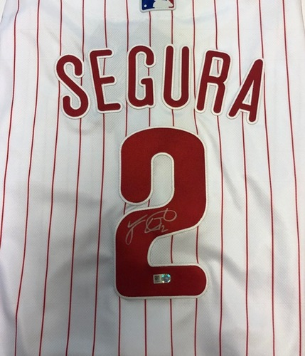 Photo of Jean Segura Autographed Phillies Authentic Jersey