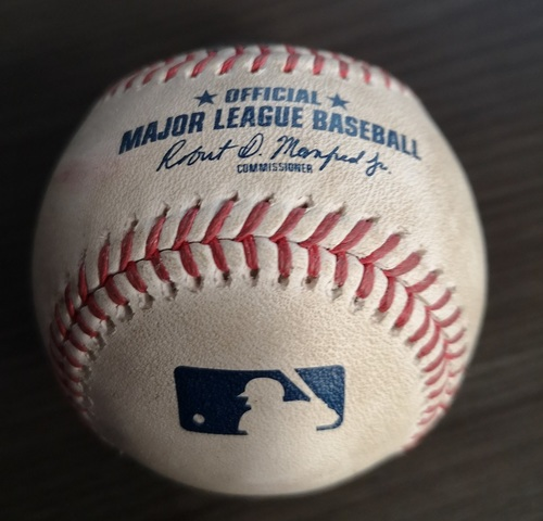 Photo of Authenticated Game Used Baseball: Strikeout by Jhoulys Chacin against Rowdy Tellez (Sept 12, 19 vs BOS). Bottom 2.
