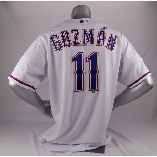 Photo of Final Season Game-Used Homerun White Jersey - Ronald Guzman - 4/1/19