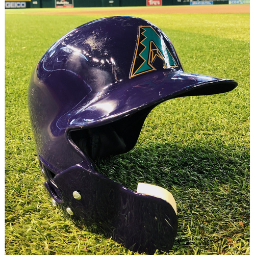 Photo of #4 Team-Issued 2019 Purple Throwback Batting Helmet