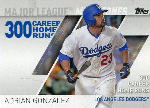 Photo of 2017 Topps Major League Milestones #MLM4 Adrian Gonzalez