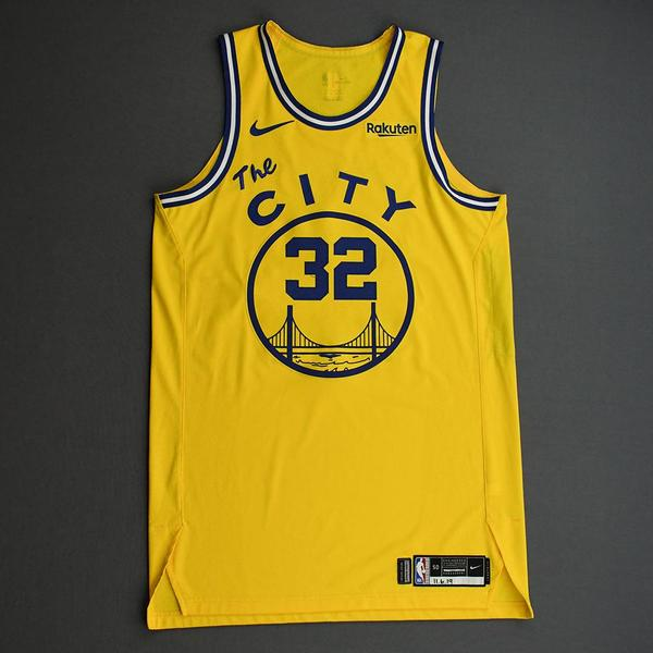 Image of Marquese Chriss - Golden State Warriors - Game-Worn Classic Edition 1966-67 Home Jersey - 2019-20 NBA Season