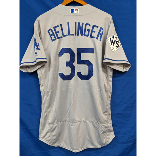 Photo of Cody Bellinger 2017 World Series Team Issued Road Jersey