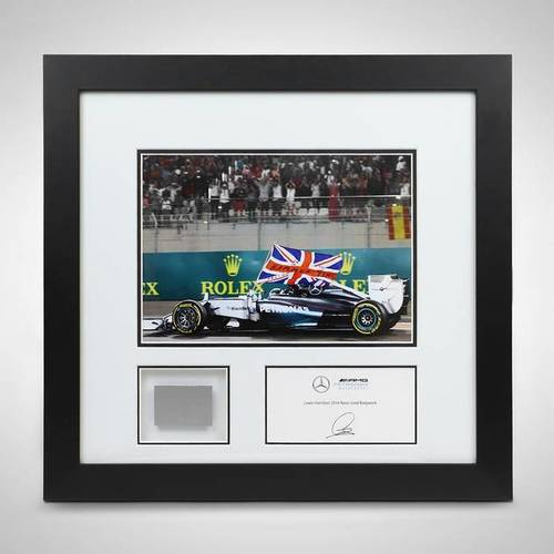 Photo of LEWIS HAMILTON 2014 ABU DHABI BRITISH FLAG PHOTO & BODYWORK