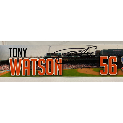 Photo of 2020 Black Friday Sale - #56 Tony Watson Team Issued Autographed Boston Road Trip Locker Tag
