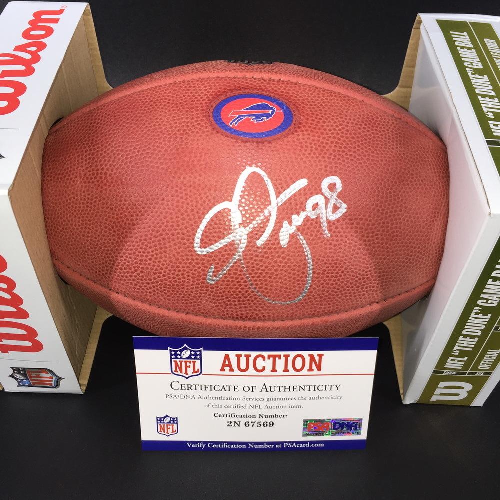 Bills - Star Lotulelei Signed Authentic Football w/ 100 seasons and Bills Logo