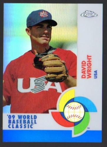 Photo of 2009 Topps Chrome World Baseball Classic Blue Refractors #W26 David Wright