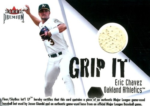 Photo of 2001 Fleer Premium Grip It and Rip It Plus #15 E.Chavez/J.Giambi/200