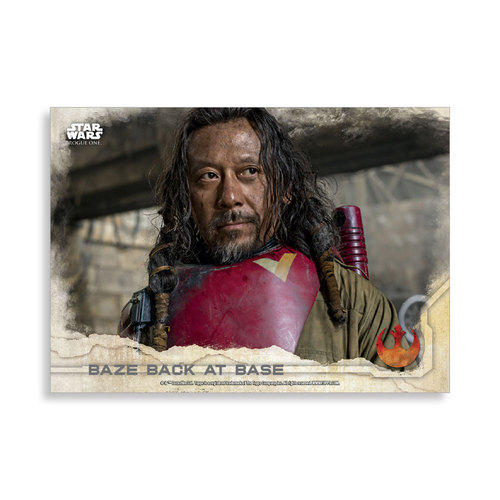 Baze back at Base 2016 Star Wars Rogue One Series One Base Poster - # to 99