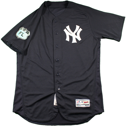 Photo of Austin Romine New York Yankees 2017 Spring Training Home Game Used #27 Jersey (Size 46)