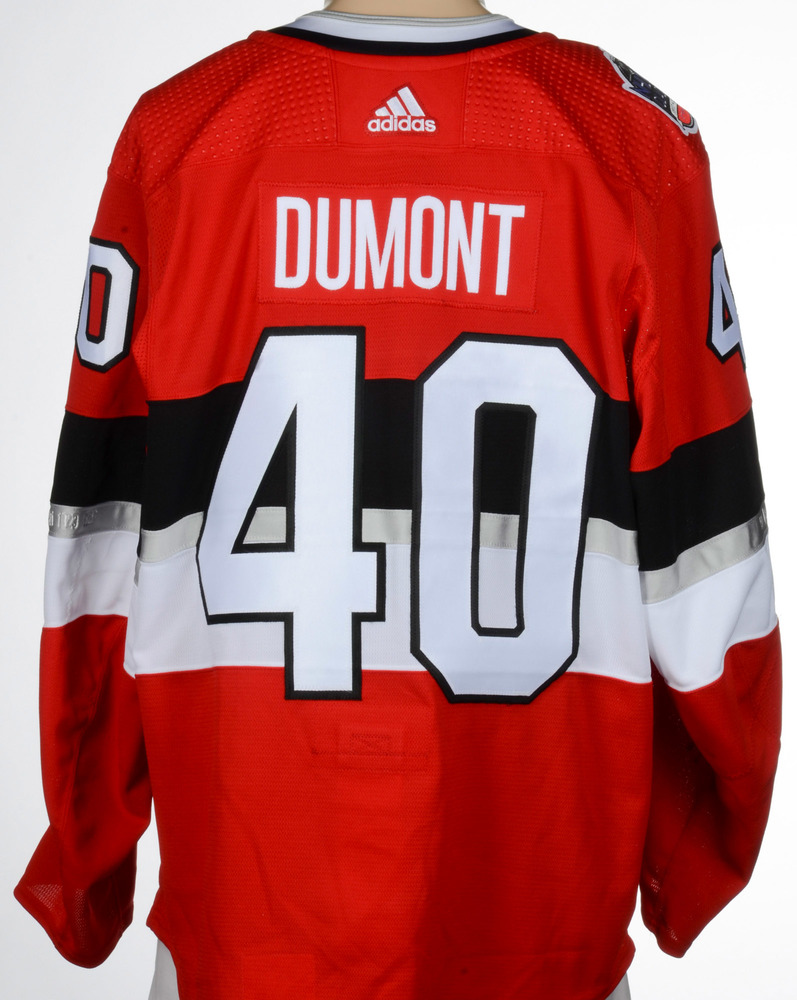 best service b467f 7886b Gabriel Dumont Ottawa Senators Game-Worn 2017 NHL100 Classic ...