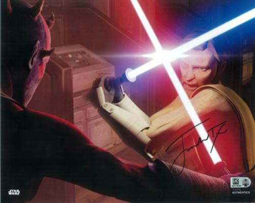 James Arnold Taylor as Obi-Wan Kenobi 8x10 Autographed in Black Ink Photo