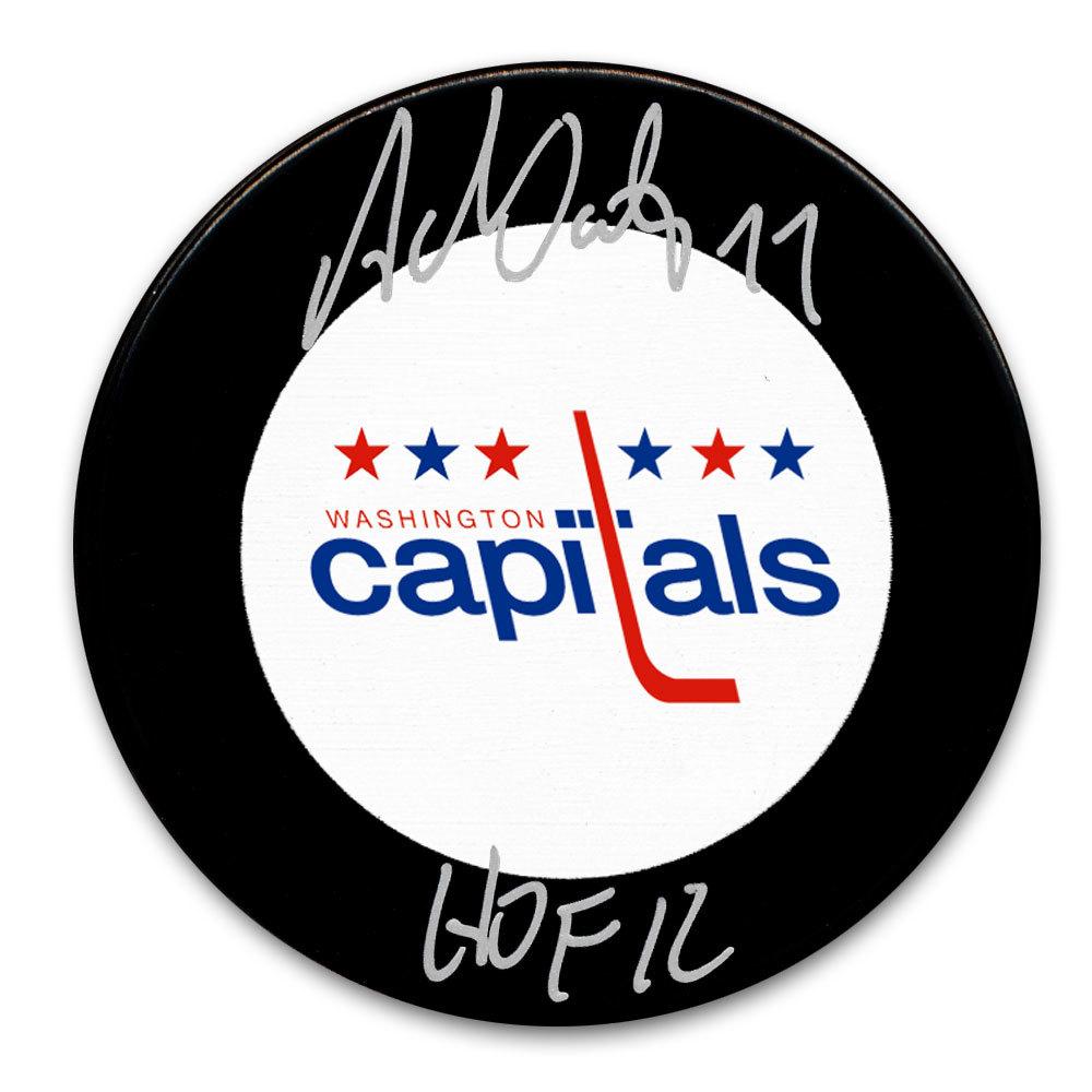 Adam Oates Washington Capitals HOF Autographed Puck