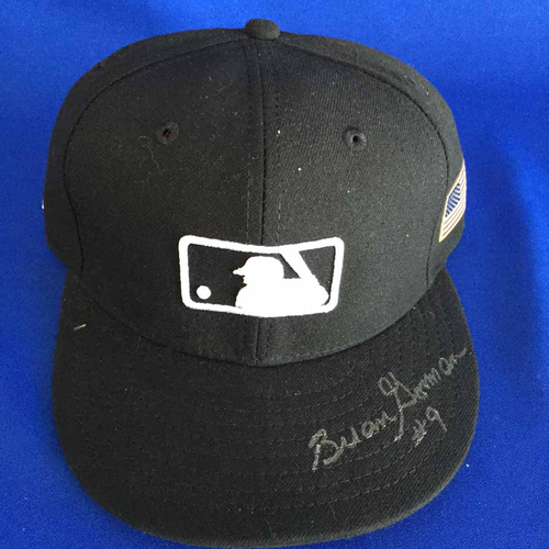Photo of UMPS CARE AUCTION: Brian Gorman Signed American Flag Plate Cap - Size 7 1/8 - Not MLB Authenticated