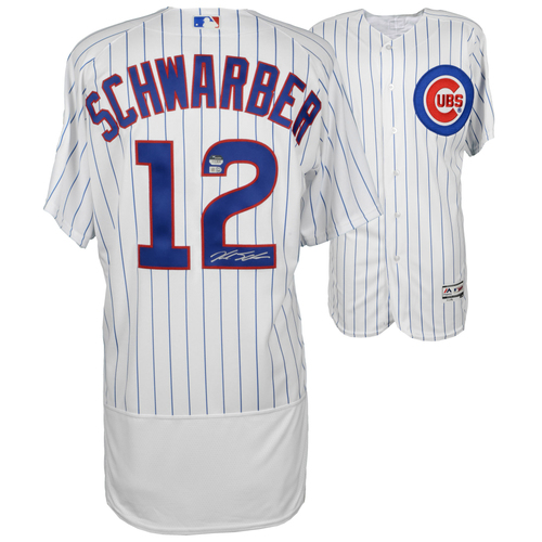 Photo of Kyle Schwarber Chicago Cubs Autographed White Authentic Jersey