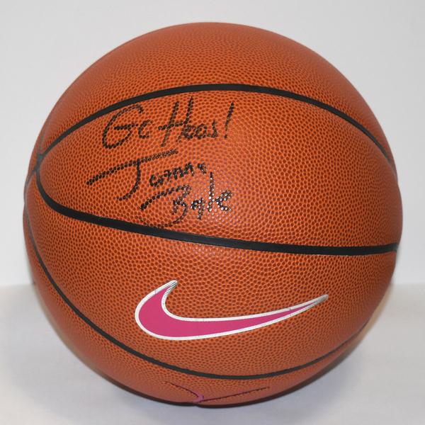 Photo of Former Women's Basketball Head Coach Joanne Boyle Autographed Ball