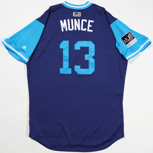 "Photo of Max ""Munce"" Muncy Los Angeles Dodgers Game-Used 2018 Players' Weekend Jersey"