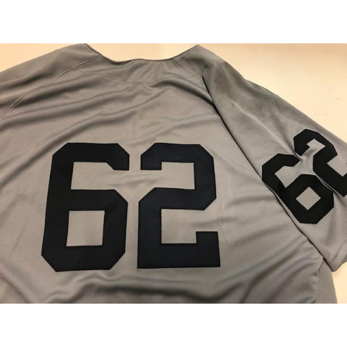 Photo of Game-Used 1968 World Series 50th Anniversary Jersey: Sandy Baez