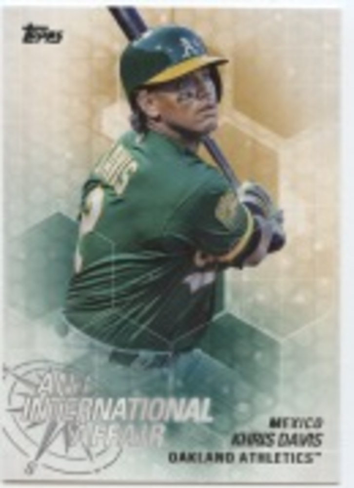 2018 Topps Update An International Affair #IA29 Khris Davis