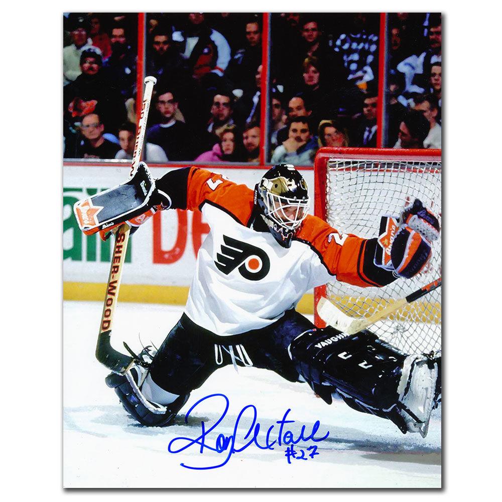 Ron Hextall Philadelphia Flyers KICK SAVE Autographed 8x10