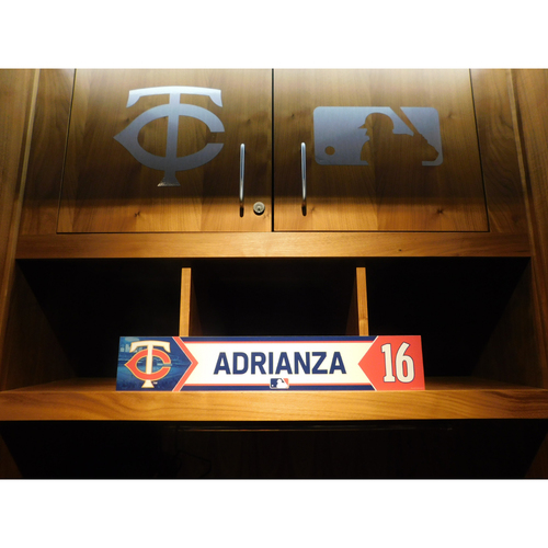 Photo of 2018 Ehire Adrianza Game-Used Locker Name Plate
