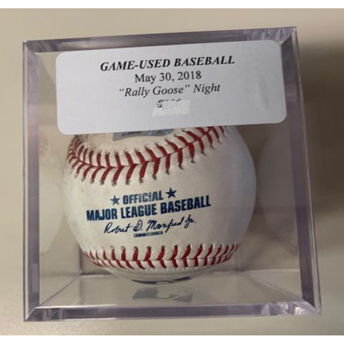 Photo of Game-Used Baseball: Rally Goose Night-Dixon Machado Foul Ball