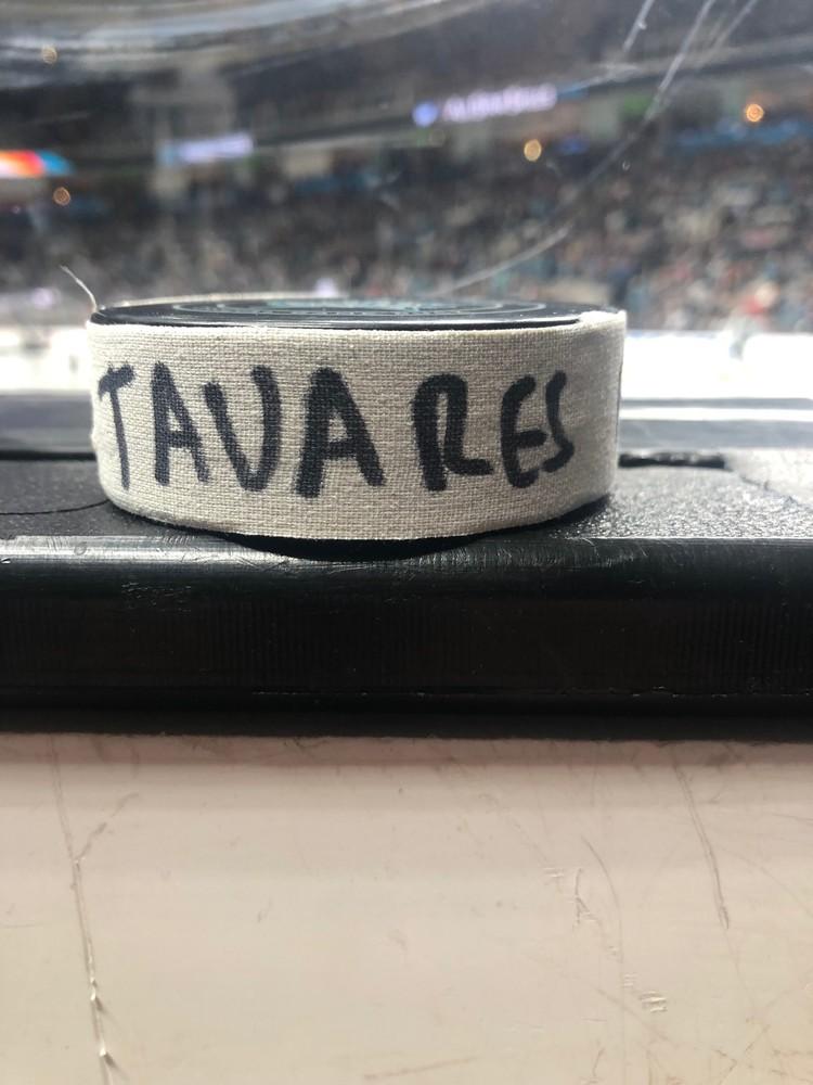 John Tavares Toronto Maple Leafs Atlantic Division Gatorade NHL Puck Control Event-Used Puck