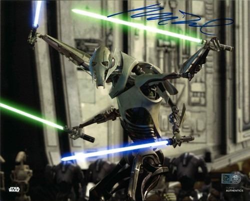 PREORDER Matthew Wood As General Grievous 8x10 Autographed In Blue Ink Photo