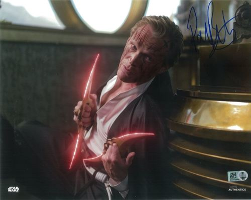 Paul Bettany As Dryden Vos 8x10 Autographed in Blue Ink Photo