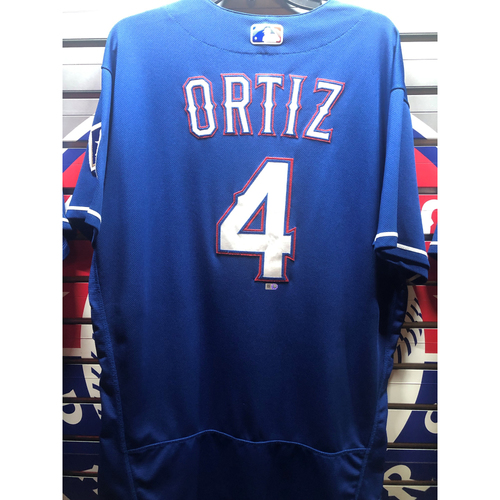 Photo of Hector Ortiz Game-Used Blue Jersey - 6/22/18